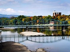 Landscape Photography, Scenic Pictures, Landscape Print, City Prints, Binghamton New York, South Washington Street Bridge, Susquehanna River by ChristinaRolloArt on Etsy