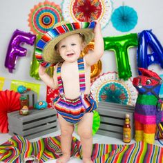 added a photo of their purchase Mexican Birthday Parties, 2nd Birthday Party Themes, Fiesta Theme Party, Baby Boy 1st Birthday, First Birthday Photos, Birthday Ideas, Birthday Gifts, Mexican Babies, Boy Photo Shoot