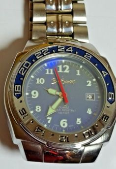 Mens Bum Epuipment Watch 24 Hour With Date Function Silver Water Resistant Works #Bum #Casual