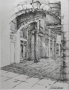 Pen & ink drawing, by joaquim francés pencil sketch drawing, ink pen drawings, Urban Sketching, Sketches, Ink Art, Drawings, Ink Pen Drawings, Art, City Drawing, Ink Sketch, Art Drawings Beautiful