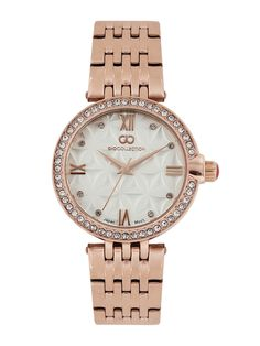 f1d839107c7 Buy GIO COLLECTION White Embellished Analoge Watch G2025-44 online