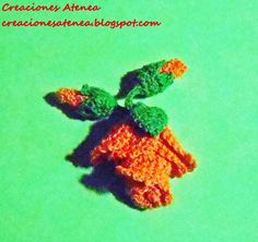 Creaciones Atenea: Rosas a crochet (reto amistoso Nº 63)