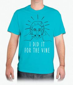 I DID IT FOR THE VINE Graphic Tee in Blue