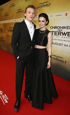 Jamie Campbell Bower + Lily Collins