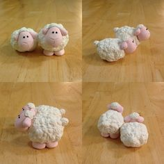 Expressive Creativity: Nativity - White Sheep - can also be made out of fondant. Polymer Clay Animals, Fimo Clay, Polymer Clay Crafts, Fondant Animals, Sheep Fondant, Polymer Clay Christmas, Clay Figurine, Fondant Tutorial, Clay Ornaments