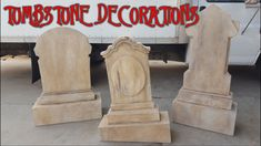 DIY Halloween Props - MAKING TOMBSTONE DECORATIONS! Heavy Duty Plywood G...
