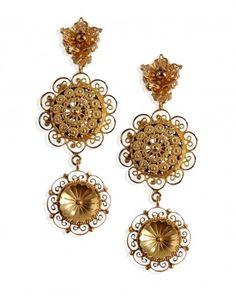 Dolce & Gabbana Filigree Clip On Earrings