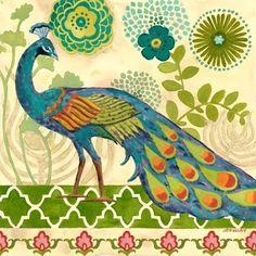 """Peacock Green Flower"" By Jennifer Brinley."