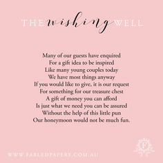 17 Best Ideas About Wishing Well Poems On Party Xyz Baby Shower Wishing Well Invitations Wording April Wedding, Wedding 2017, Diy Wedding, Rustic Wedding, Wedding Gifts, Dream Wedding, Wedding Ideas, Wedding Stuff, Wishing Well Poems