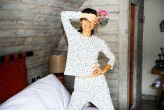 Jasmine Hemsley shares her Ayurveda-inspired morning routine to help her start the day in a happier and calmer way. Ayurvedic Healing, Ayurvedic Recipes, Ayurveda, Pyjamas, Pjs, Tara Stiles Yoga, Jasmine Hemsley, Hemsley And Hemsley, Trouble Falling Asleep