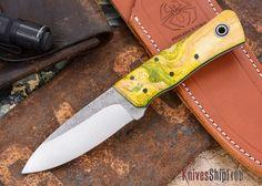 Fiddleback Forge: Monarch - Box Elder Burl - Black / Lime Liners - O-1