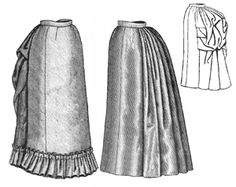 1885 Four-Gore Underskirt  This could be simple enough... and dressed up as needed.  Oh, and it'd do for work too?