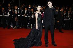 Dita Von Teese et Marilyn Manson au festival de Cannes en 2006.