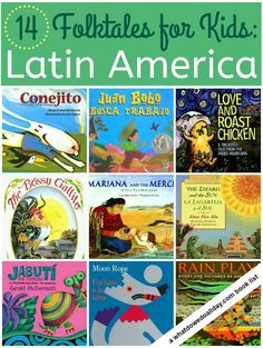 A curated list of picture books featuring Latin American folktales for kids from a variety of cultures and countries including Aztec, Incan, Chile, Cuba and Puerto Rico.