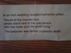 À un mariage irlandais, ...