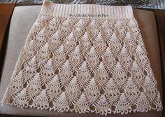 Fabulous Crochet a Little Black Crochet Dress Ideas. Georgeous Crochet a Little Black Crochet Dress Ideas. Crochet Borders, Crochet Chart, Crochet Motif, Crochet Top, Black Crochet Dress, Crochet Skirts, Knit Skirt, Crochet Clothes, Crochet Baby Dresses