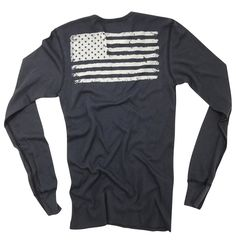 Men's Old Glory Long Sleeve Thermal (Navy)