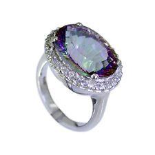 divine Mystic Quartz Silver Multi Ring indian L-1in US 5678