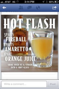 Fireball cocktail