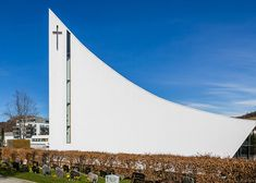 LINK'S Norwegian church features a concave vaulted roof