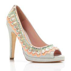 Bespoke wedding shoes by Emmy London!  Perfect summer wedding heels! Frida | Emmy London