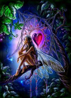 """Uildrim@deviantART """" Captured Heart """" fairy faery fantasy art"""