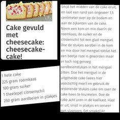 Cake gevuld met cheesecake