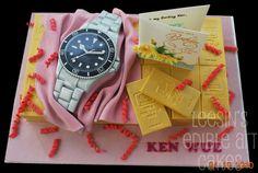 Cake designed after a Rolex Watch