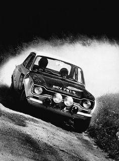 Ford Escort Twin Cam - Alpine rally, austria, Hannu Mikkola