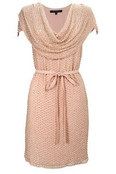 Want!!!!   SUNSPARK COWEL NECK DRESS by French Connection.  In intimate pink with gold sequins.