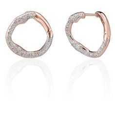Monica Vinader 'Riva' Diamond Stud Earrings (2,940 CNY) ❤ liked on Polyvore featuring jewelry, earrings, rose gold, snap button jewelry, pave diamond earrings, diamond jewellery, holiday earrings and snap jewelry