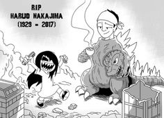 Haruo Nakajima The very first Godzilla suit actor for 12 films. Thanks for the destructive memories. Dark Comics, Fun Comics, Godzilla Suit, Godzilla Tattoo, Erma Comic, Reading Den, Triste Disney, Godzilla Comics, A Hat In Time
