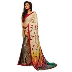 Look stunning in Printed saree with Banglori Slik Blouse. #printedsaree #bollywoodkart #bollywoodfashion