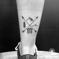 Instead stamp in the passport: With these tattoos you show everything .- Statt Stempel im Reisepass: Mit diesen Tattoos zeigst du jedem, wo du warst Instead of stamps in your passport: With these tattoos you show everyone where you were + # - Diy Tattoo, Get A Tattoo, Tattoo Ideas, Go Live Tattoo, Jeep Tattoo, Surf Tattoo, Mini Tattoos, Body Art Tattoos, Sleeve Tattoos