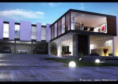 Evermotion - portfolio by JOSE JUAREZ Cgi, Mansions, Lighting, House Styles, Home Decor, Decoration Home, Manor Houses, Room Decor, Villas
