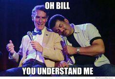 Superfriends Bill Nye and Neil DeGrasse Tyson