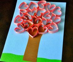 Valentine Handprint Art Tree | AllFreeKidsCrafts.com