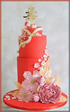Cheongsam inspired 90th birthday by Jo Finlayson (Jo Takes the Cake)