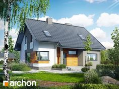 Dom w żurawkach 2 Tiny Guest House, House Of Beauty, Grand Entrance, Wooden House, Design Case, Exterior Colors, Home Fashion, Townhouse, House Plans