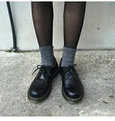 Socks and Dr Martens 1461s
