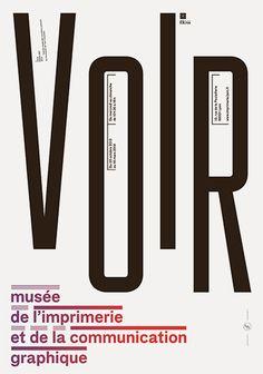 Série d.affiches pour le musée ee l'imprimerie de Lyon. Damien Gauthier. Bureau 205