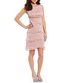 814240c55e4 Jessica Howard Beaded EmpireWaist Tiered Dress  Dillards Mother Of Groom  Dresses