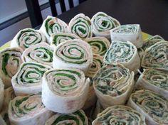 Spinach tortilla pinwheels to make an appetizer tree?