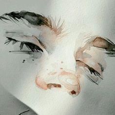 Watercolor portraits, watercolor illustration, watercolor tips, aesthetic d Watercolor Art Face, Watercolor Portraits, Watercolor Illustration, Watercolor Paintings, Simple Watercolor, Watercolor Trees, Watercolor Landscape, Tattoo Watercolor, Watercolor Animals