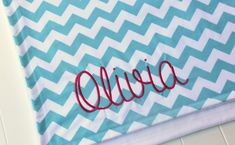 Monogrammed Chevron Baby Blanket Chevron by mylittlemookie on Etsy, $49.00