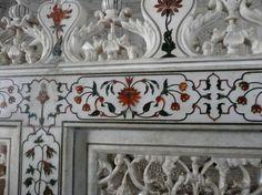 Artwork in the Interior of Taj Mahal
