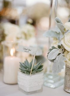 #escort-cards, #succulent    Read More: http://www.stylemepretty.com/2015/01/08/elegant-blush-ivory-outdoor-wedding/