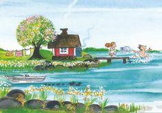Postcrossing postcard from Finland Finnish Sauna, Sculpture, Whimsical Art, Naive, Beautiful World, Finland, Summer Fun, Folk Art, Summertime