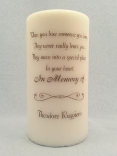 Personalized Wedding Memorial Candle For My Grandma