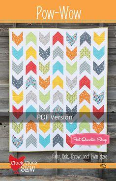 Pow Wow Downloadable PDF Quilt Pattern Cluck Cluck Sew Quilt Patterns - Fat Quarter Shop